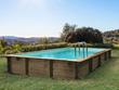 """Piscine bois en kit rectangle """" Murano """" - 12.20 x 6.20 x 1.44 m"""