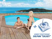 "Piscine bois "" Rio "" - 5.60 x 3.70 x 1.24 m + Robot Dolphin ""Galaxy"""