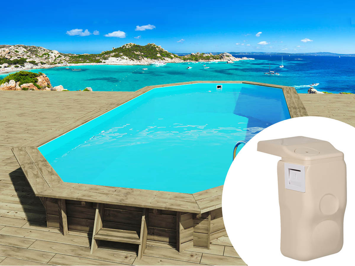 Promotion 6 piscine bois ibiza x x m for Piscine en kit prix