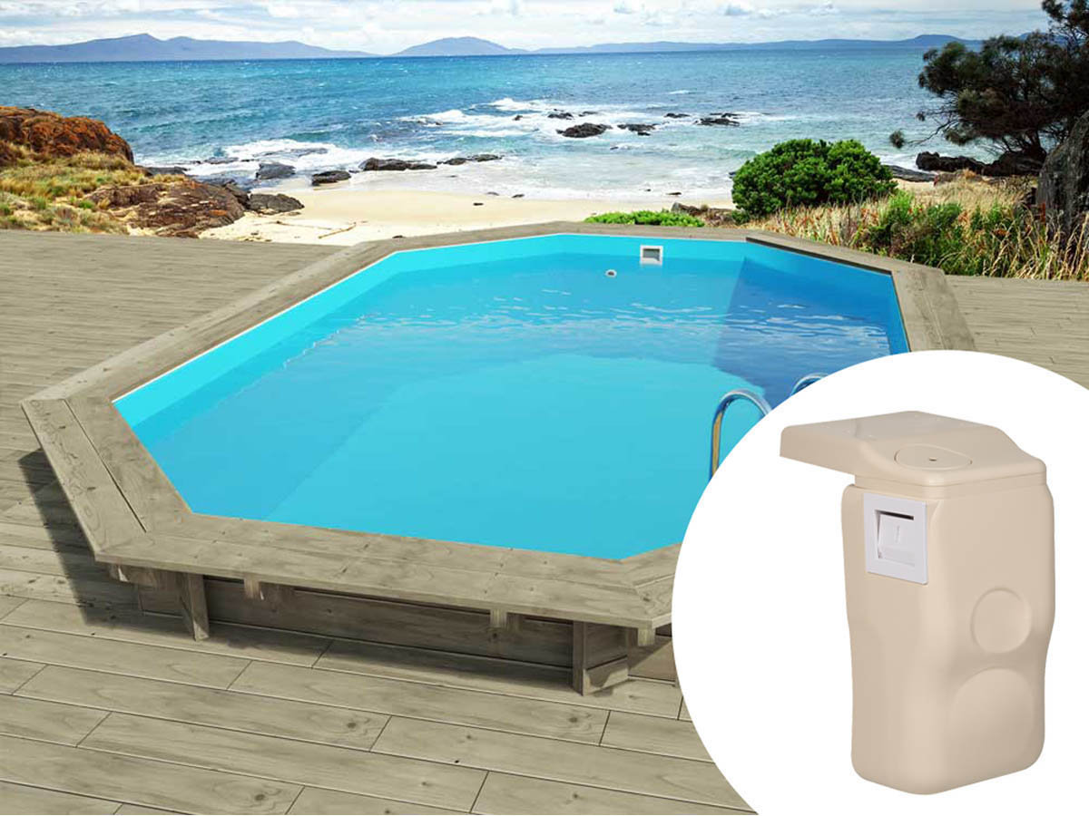 Piscine bois florida x x m kit hors for Piscine en kit bois