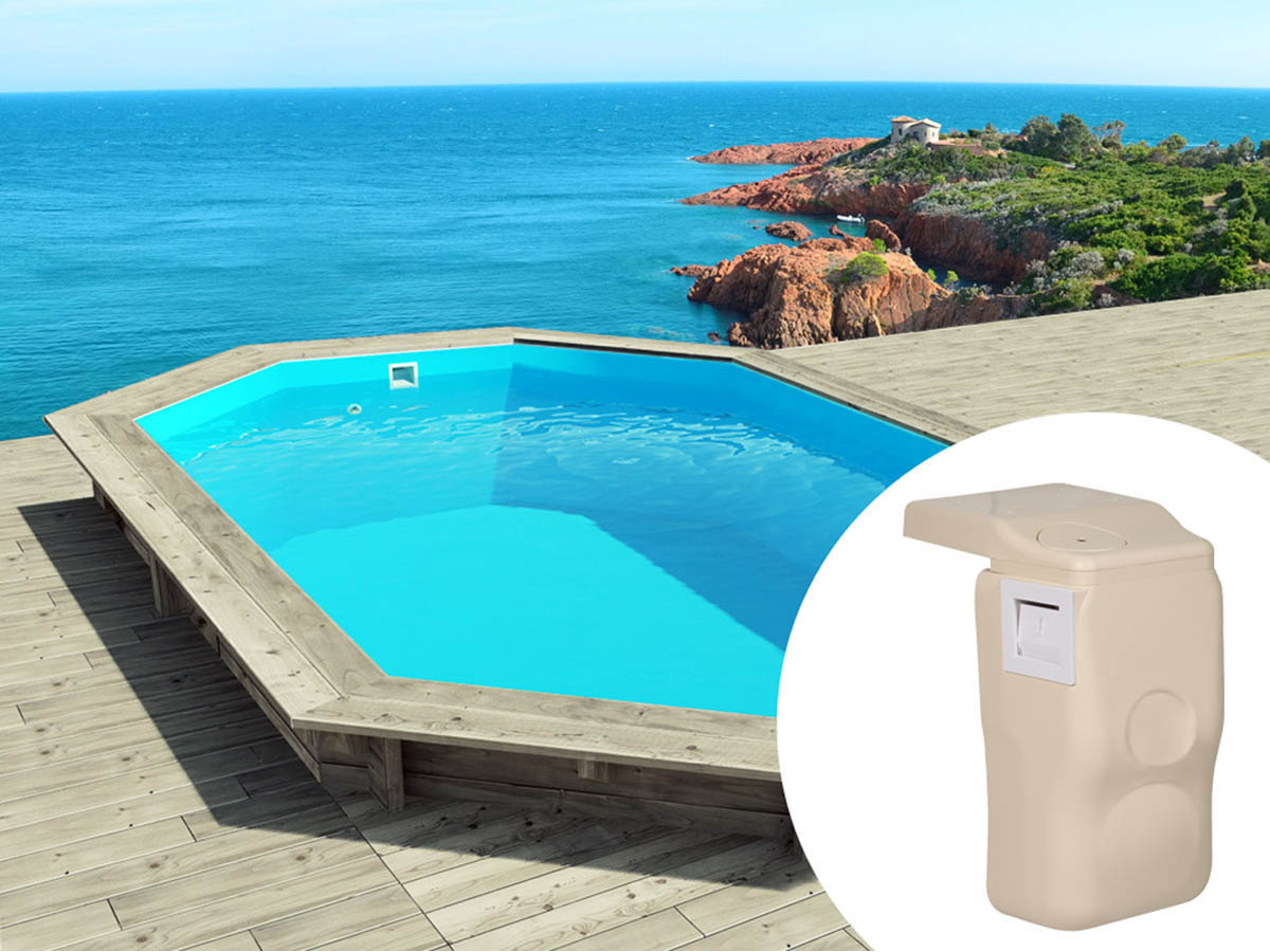 Piscine bois cancun x x m kit hors for Piscine en kit bois