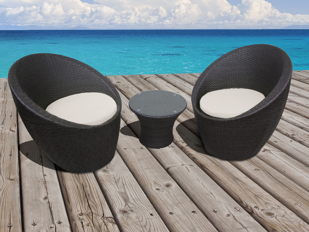 fauteuil salon de jardin resine tressee. Black Bedroom Furniture Sets. Home Design Ideas