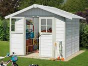 """Abri jardin """"Deco 4,9"""" - 4,90 m² - 2.42 x 2.02 x 1.88 m - 26mm"""