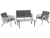 """Salon de jardin """"Lounge Sunday Corfou"""" - 1 canapé + 2 fauteuils + 1 table basse"""
