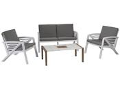 """Salon de jardin """"Lounge Sunday Copenhague"""" - 1 canapé + 2 fauteuils + 1 table basse"""