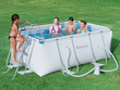 "Piscine tubulaire rectangulaire ""Power Steel Frame Pools"" - 2.87 x 2.01 x 1m"