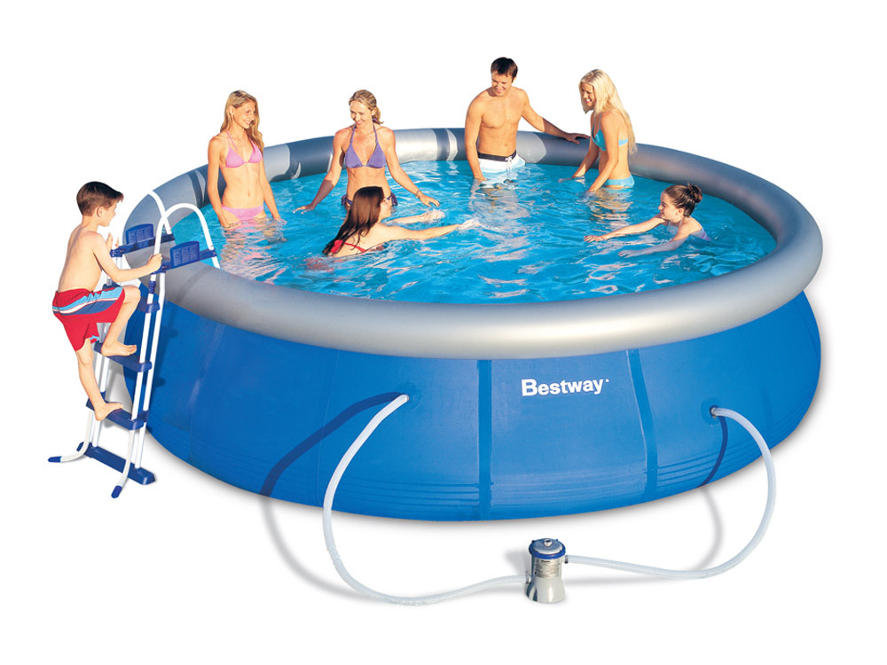 Piscine ronde autoportante x h 58331 for Protection platre piscine