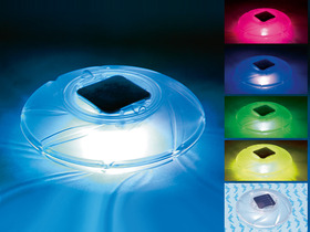 Lampe solaire flottante - Lumi�res LED multicolores altern�es