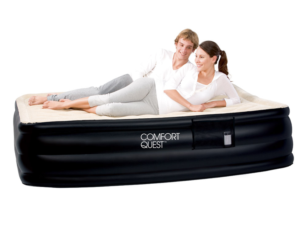 matelas gonflable pompe lectrique 2 places queen. Black Bedroom Furniture Sets. Home Design Ideas