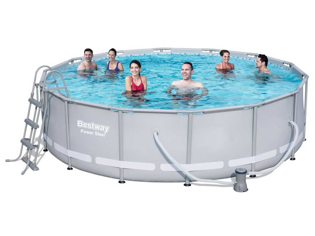 Piscine tubulaire ronde x m 86829 for Robot piscine ronde