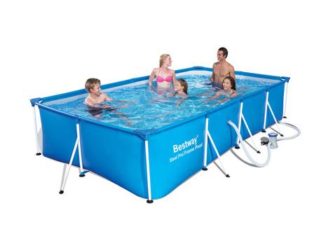 "Piscine tubulaire rectangle ""Splash Frame Pool ""- 4.00 x 2.11 x 0.81 m"