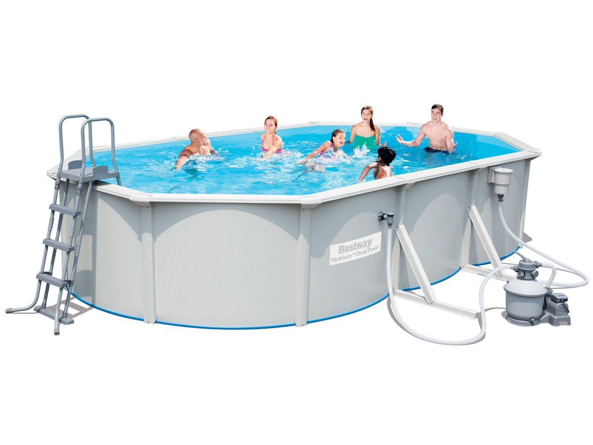 piscine acier ovale hydrium x x m ebay