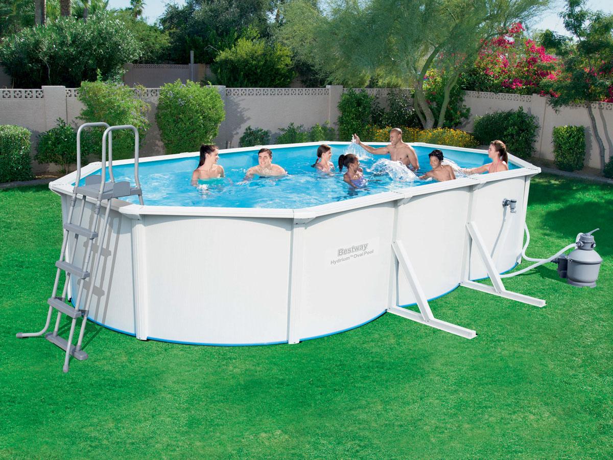 Piscine acier ovale hydrium x x m ebay for Liner piscine 3 60 1 20