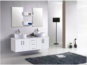 """Meuble de salle de bain - """"Rhin""""- Blanc"""