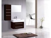 "Meuble de salle de bain - ""Danube"" - Noir et marron"