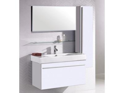 Meuble de salle de bain garonne blanc 55627 55676 for Meuble ceruse blanc technique