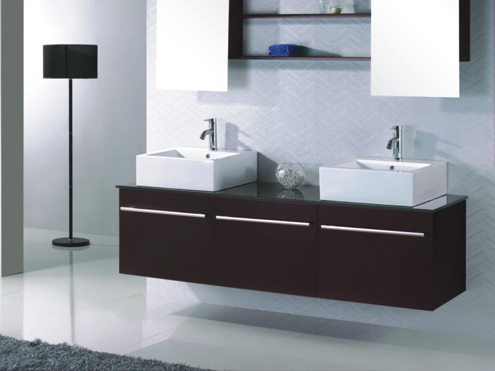 Meuble de salle de bain amazone noir et marron 55616 - Produit salle de bain ...