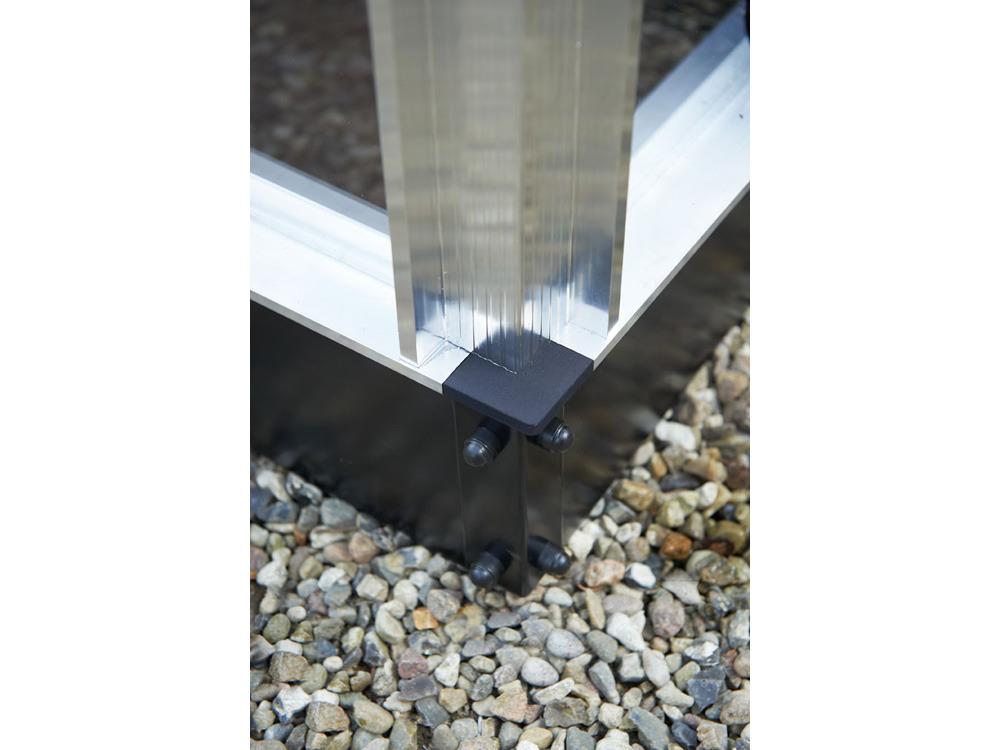 Embase pour serre verre Gardener - Aluminium - 21,4 m²