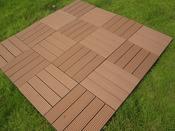 Dalle en bois composite 1 m2 ( 11 dalles) - 30 x 30 - Brun