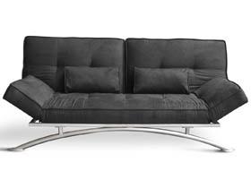 canap clic clac marina 3 places noir 67866. Black Bedroom Furniture Sets. Home Design Ideas
