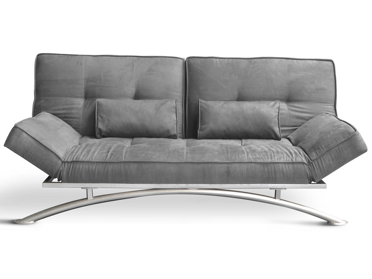 Canap clic clac marina 3 places gris 67866 67868 - Dimensions canape 2 places ...