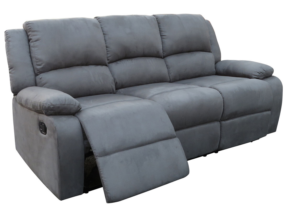 Canap relax york 3 places gris 83727 83736 - Changer mousse canape ...