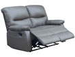 """Canapé relax 2 places """"Lincoln"""" - Coloris taupe"""