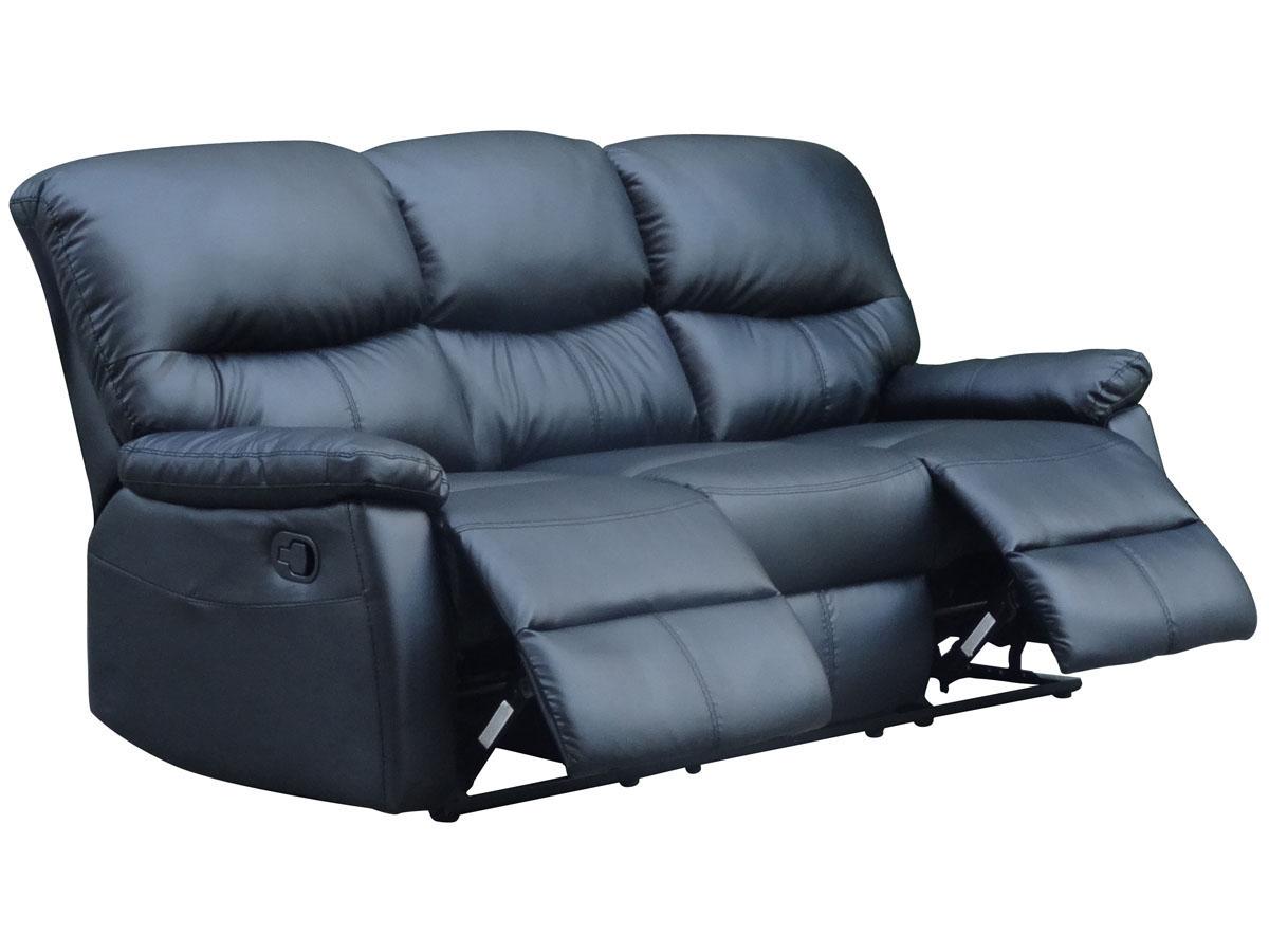 Canapé relax Lincoln - 3 places - Noir
