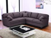 Canapé d'angle tissu 5 places  Alina  - Marron