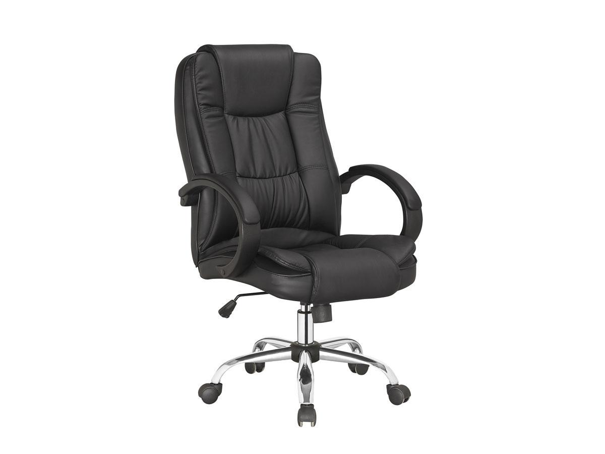 fauteuil de bureau a roulettes hugo noir 85748. Black Bedroom Furniture Sets. Home Design Ideas