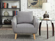 "Fauteuil  tissu ""Timmy"" - Gris clair"