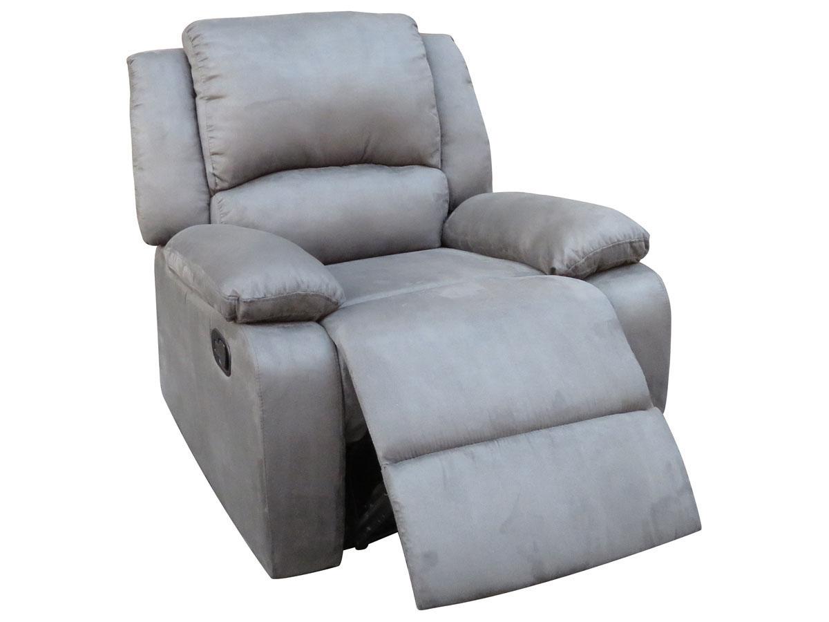 Fauteuil relax York - 84 x 90 x 95 cm - Coloris gris
