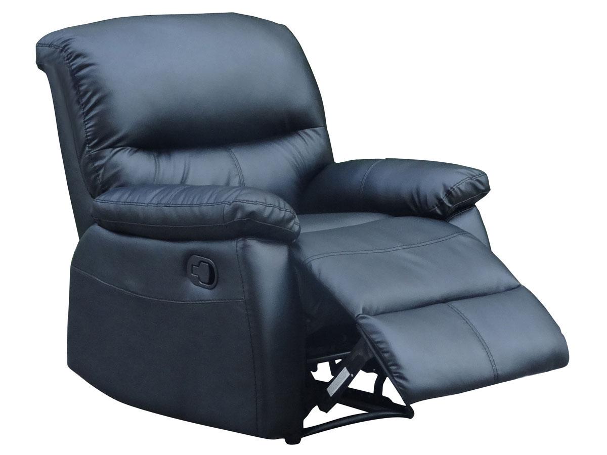 Fauteuil relax Lincoln - 82 x 92 x 95 cm - Coloris noir