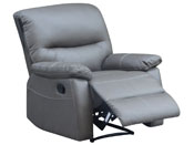 "Fauteuil relax ""Lincoln"" - 82 x 92 x 95 cm - Coloris taupe"