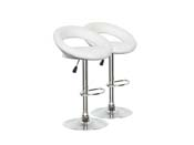 "Lot de 2 tabourets de bar  ""Bellini"" - Blanc"