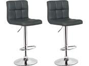 "Lot de 2 tabourets de bar  ""Manhattan"" - Noir"