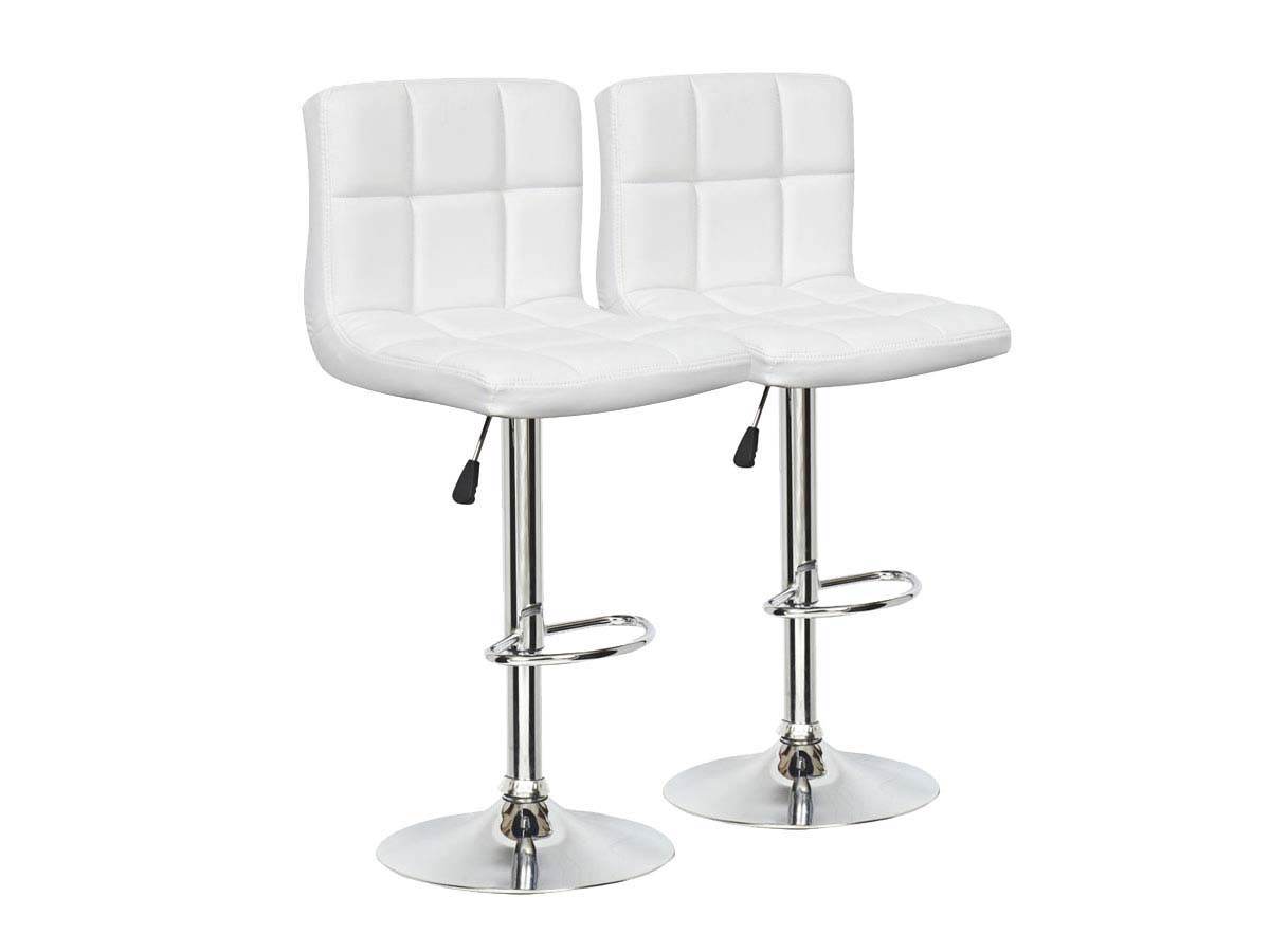 lot de 2 tabourets de bar manhattan blanc 85767 85769. Black Bedroom Furniture Sets. Home Design Ideas