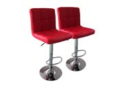 "Lot de 2 tabourets de bar  ""Manhattan"" - Rouge"