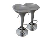 "Lot de 2 tabourets de bar  ""Mint"" - Gris"