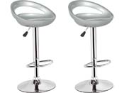 "Lot de 2 tabourets de bar  ""Blue Lagoon"" - Gris"