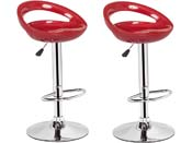 "Lot de 2 tabourets de bar  ""Blue Lagoon"" - Rouge"