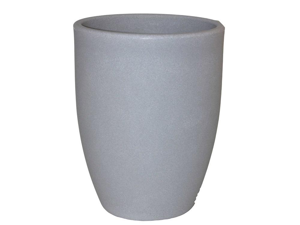 pot pour fleurs rondo gris ciment 40 cm 58024 58040. Black Bedroom Furniture Sets. Home Design Ideas
