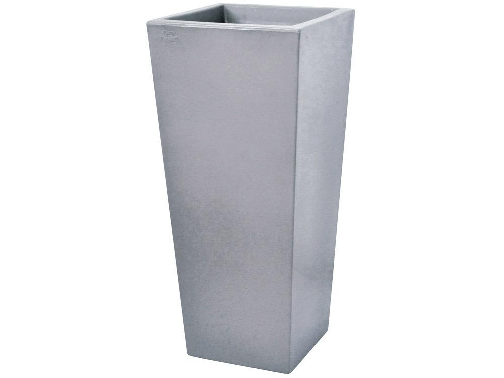 pot fleurs carreo 38 5 x 38 5 x cm gris. Black Bedroom Furniture Sets. Home Design Ideas