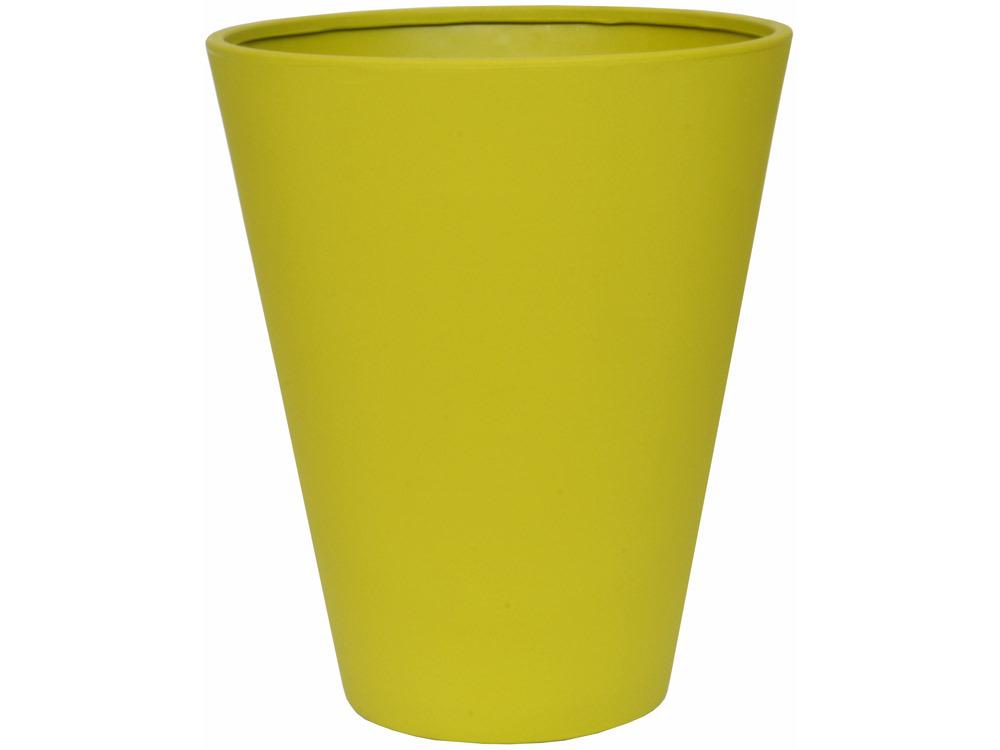 Pot fleurs cosma vert olive 50 cm 58089 58101 for Grand cache pot exterieur