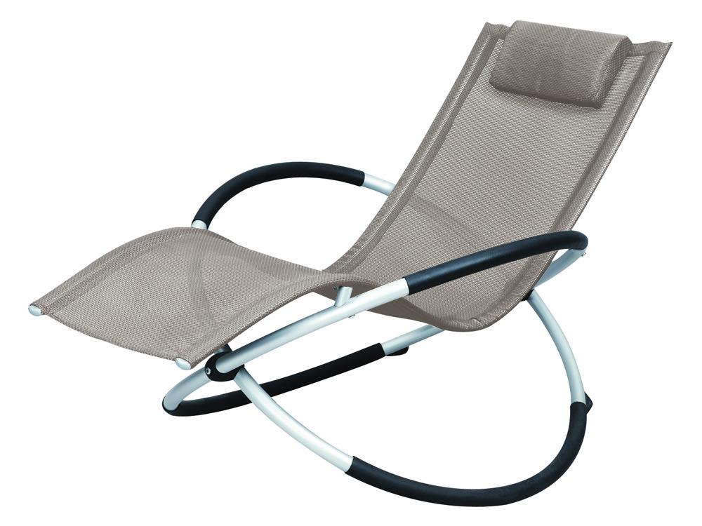 bain de soleil bascule en aluminium lina phoenix taupe 58662 58664. Black Bedroom Furniture Sets. Home Design Ideas