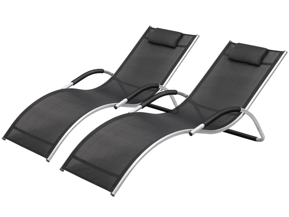 bain de soleil houston noir lot 2 58677. Black Bedroom Furniture Sets. Home Design Ideas