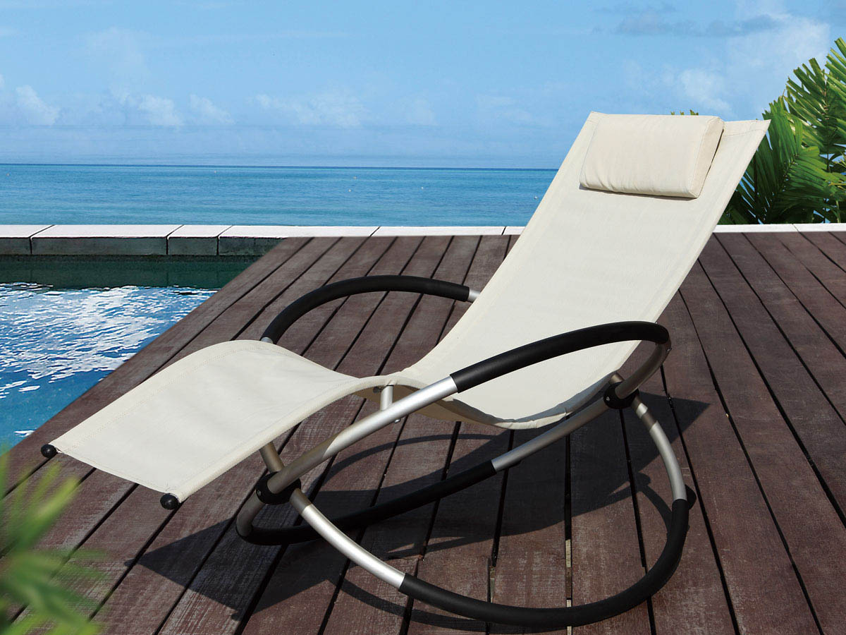 bain de soleil bascule en aluminium lina phoenix beige 58662 68366. Black Bedroom Furniture Sets. Home Design Ideas