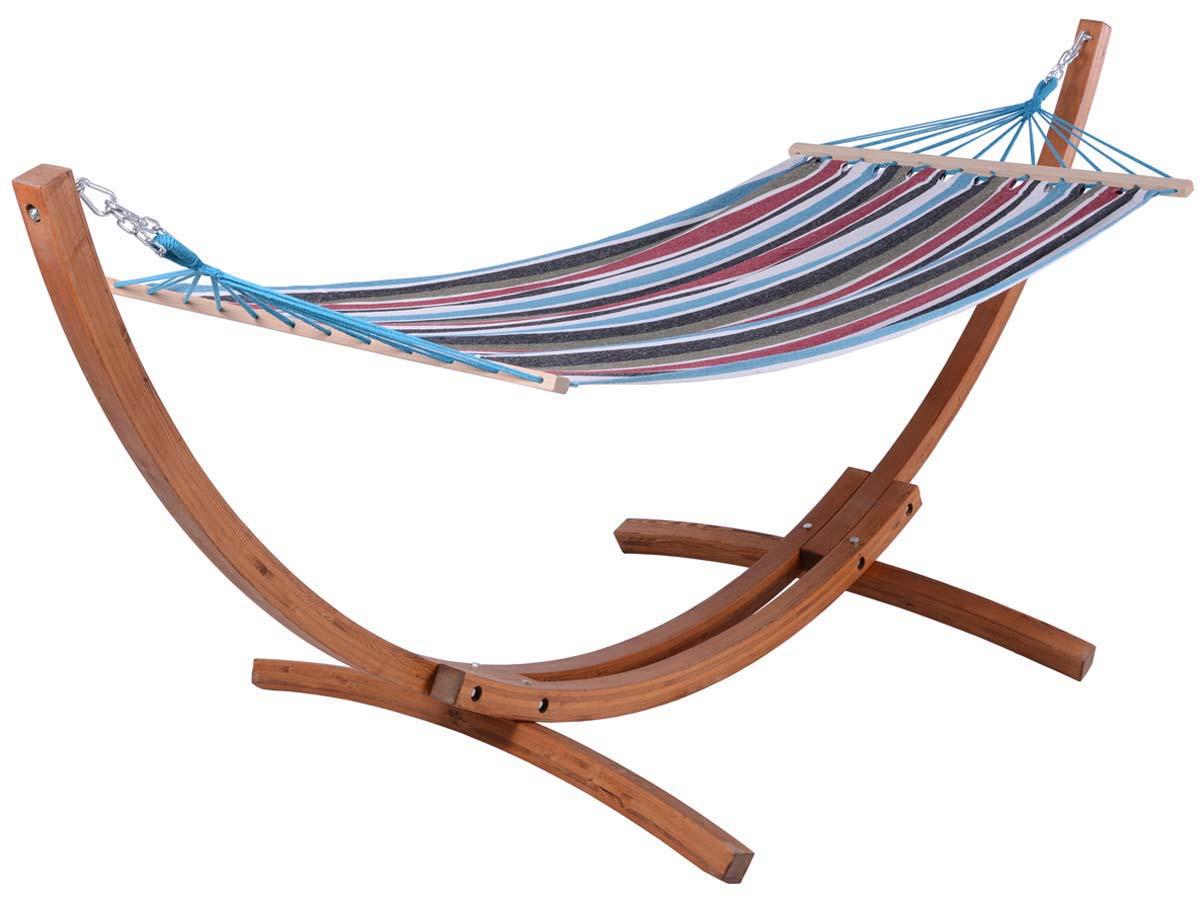hamac bois relax dallas 3m bleu melange 69821 86552. Black Bedroom Furniture Sets. Home Design Ideas