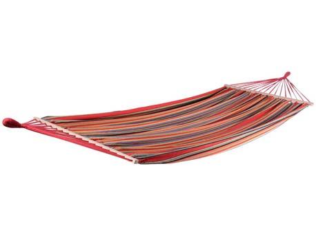 """Hamac jardin """"Caïmans"""" - 3.6m - Rouge mélangé"""
