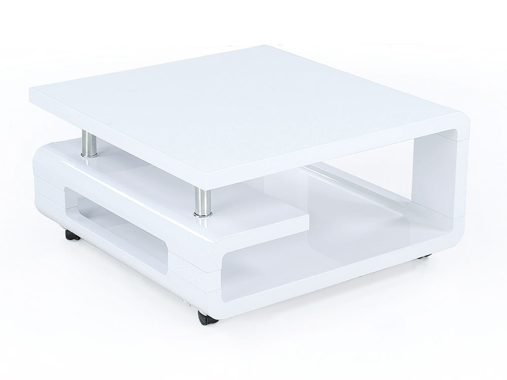 Table basse carr tara en mdf blanc 65199 - Table basse carre blanche ...